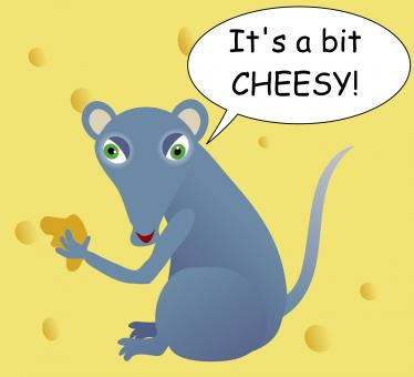 Free Stock Photo of Cheesy Mouse