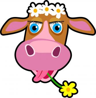 Free Stock Photo of Cartoon Cow Clip Art