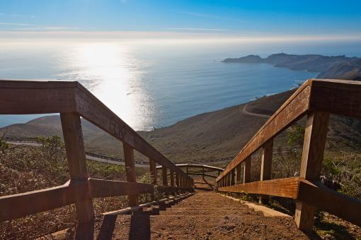 Free Stock Photo of Stairway to San Francisco Bay - HDR