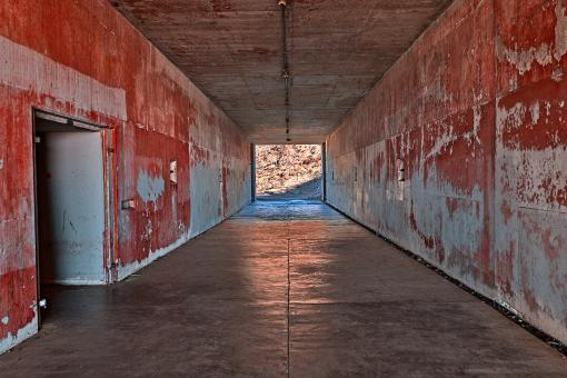 Free Stock Photo of California War Tunnel - Blood Red HDR