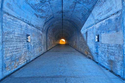 Free Stock Photo of California War Tunnel - Light of Redempt