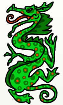 Free Stock Photo of Green Dragon Clipart