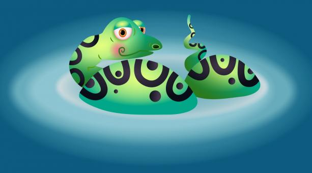 Free Stock Photo of Cartoon Snake