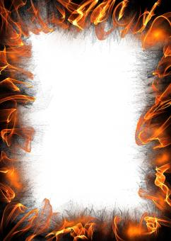 Free Stock Photo of Flame Border