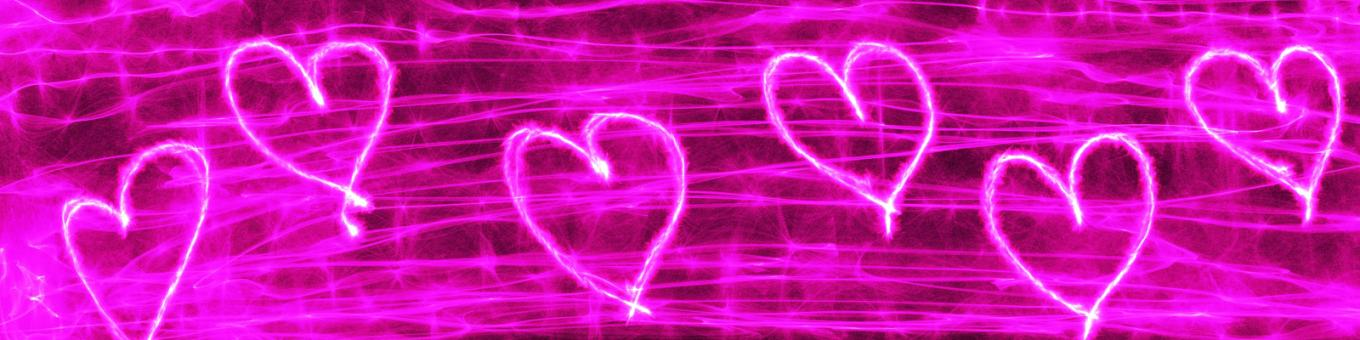 Free Stock Photo of Pink Heart Banner