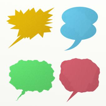 Free Stock Photo of Comic Speech Bubbles