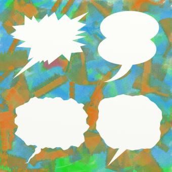 Free Stock Photo of Comic Word Balloons