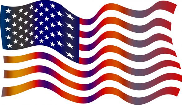 Free Stock Photo of American Flag Clipart
