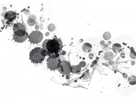 Free Stock Photo of Black Paint Splats