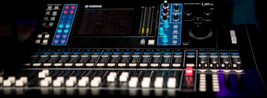 Free Stock Photo of Audio console