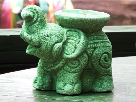 Free Stock Photo of Green Elephant Ornament