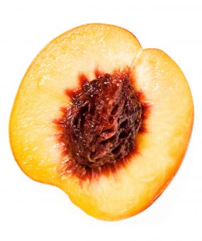 Free Stock Photo of sliced peach