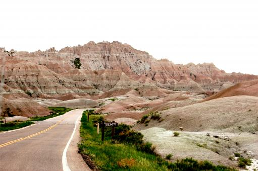 Free Stock Photo of Road through the Desert Badlands