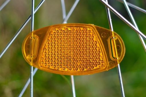 Free Stock Photo of Bicycle reflector