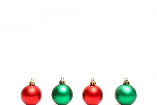 Free Stock Photo of Red and green Christmas ornaments