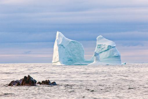 Free Stock Photo of Two Iceberg Towers