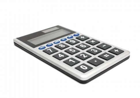 Free Stock Photo of A calculator isolated on white