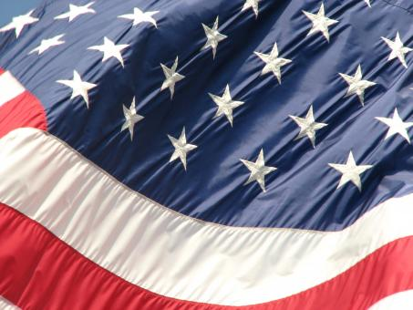 Free Stock Photo of Closeup of a United States flag
