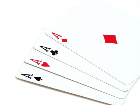 Free Stock Photo of Four aces isolated on a white background
