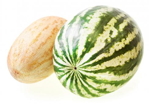 Free Stock Photo of melon and watermelon