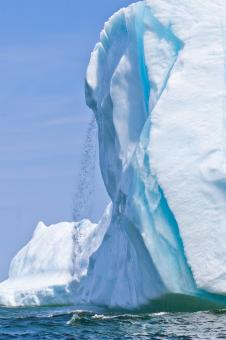 Free Stock Photo of Iceberg Waterfall
