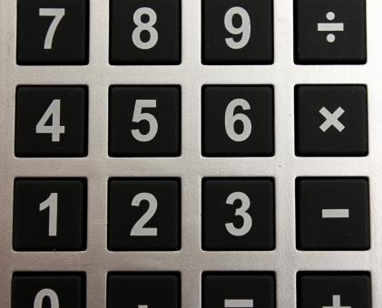 Free Stock Photo of Close-up of buttons on a calculator