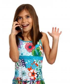 Free Stock Photo of A young girl talking on a cell phone