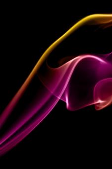 Free Stock Photo of Smooth Yellow and Purple Smoke