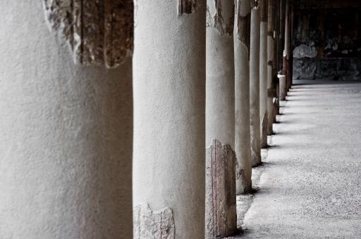 Free Stock Photo of pilars in ancient ruin, pompeii city