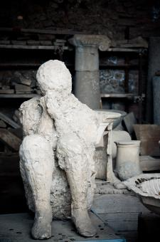 Free Stock Photo of Plaster cast of a Pompeii chariot driver