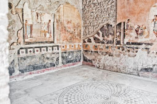 Free Stock Photo of Fresco at the ancient Roman city of Pomp
