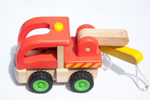 Free Stock Photo of colorful wooden toy truck