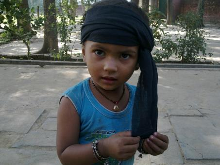 Free Stock Photo of Child with Turban