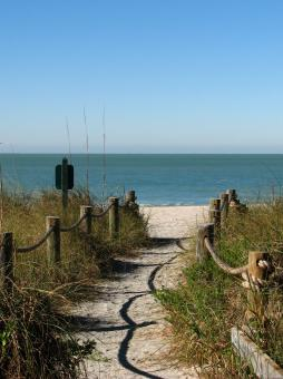 Free Stock Photo of A path heading to the beach