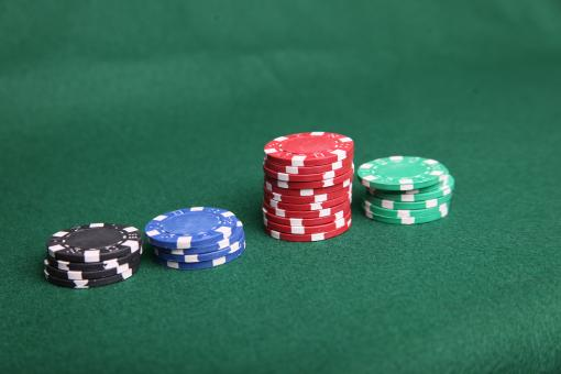 Free Stock Photo of Poker chip stacks