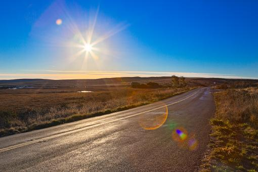 Free Stock Photo of Sunny Rural Route of Point Reyes - HDR