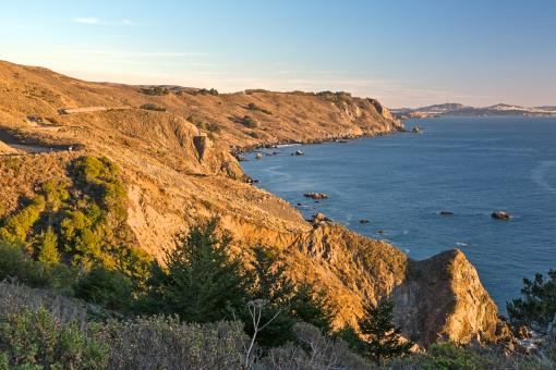Free Stock Photo of Point Reyes Sunset Coast - HDR