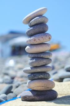Free Stock Photo of Stacked pebbles