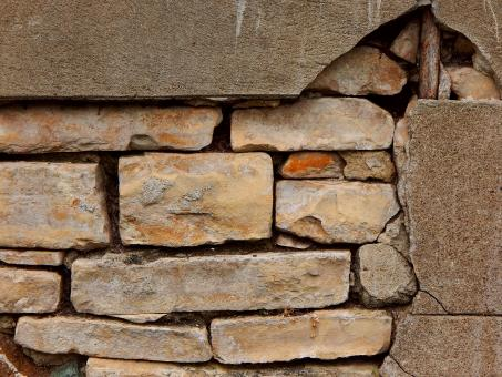 Free Stock Photo of Crumbling Stone Wall