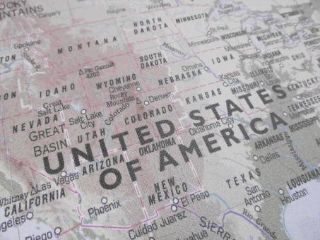 Free Stock Photo of United States of America USA Map