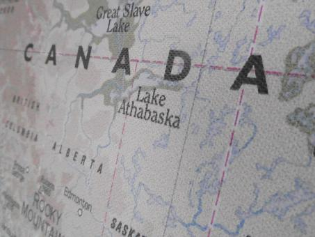 Free Stock Photo of Canada Map