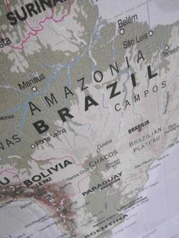 Free Stock Photo of Map of Brazil