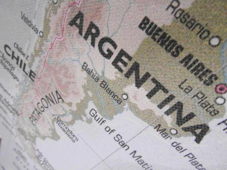 Free Stock Photo of Map of Argentina