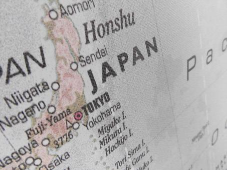 Free Stock Photo of Map of Japan