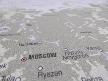 Free Stock Photo of Map of Russia