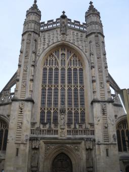 Free Stock Photo of West view Bath Abbey
