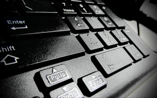 Free Stock Photo of Black Computer Keyboard