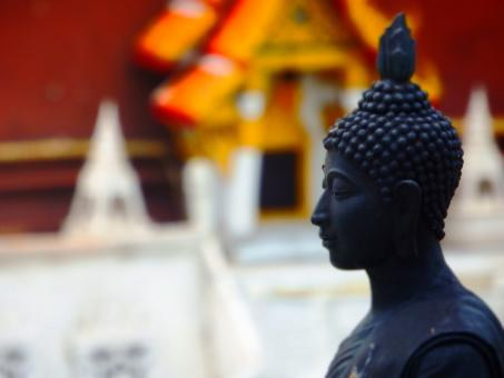 Free Stock Photo of Temple Buddha Face