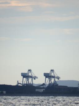 Free Stock Photo of Port Cranes