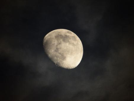 Free Stock Photo of The Moon at Night